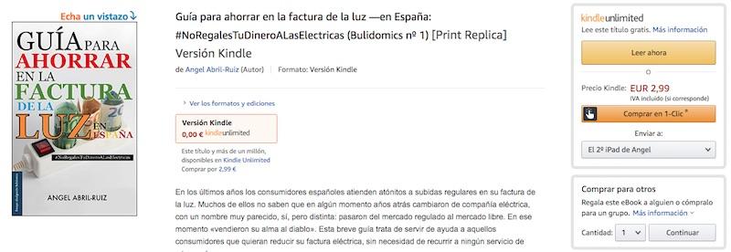 Guía versión Kindle a la venta en amazon